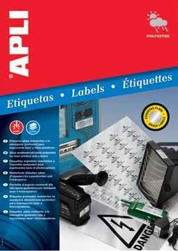 Apli zilverkleurige etiketten ft 45 7 x 21 2 mm 960 stuks for Apli etiketten