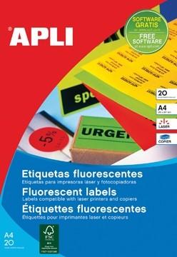 Apli fluorescerente etiketten 99 1 x 67 7 mm b x h for Apli etiketten