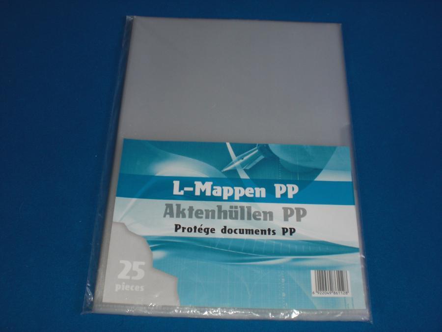 Insteekhoezen A4 transparant SET25 - L-mappen uit Plastic / Kunststof ...