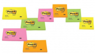 MEMOBLOK POST-IT 655N 76X127MM NEON GEEL PAK6